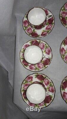 Royal Albert Bone China Old English Rose 25 Pieces, Incomplete Set, England