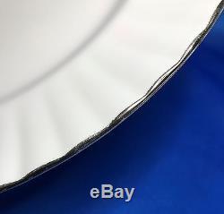Royal Albert CHANTILLY Platinum Band Dinner Plate Set of 6 Bone China England