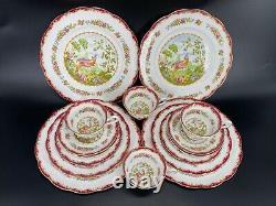 Royal Albert Chelsea Bird 5 Piece Place Setting x 4 Bone China England 20 Pieces