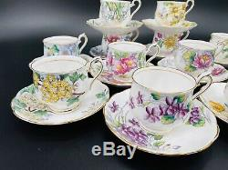 Royal Albert Complete Flower of the Month Tea Set (12) Bone China England