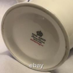 Royal Albert England Bone China Masquerade Rare Coffee Pot Cream & Sugar Set