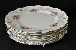 Royal Albert England Bone China Tranquillity Set of 8 Dinner Plates
