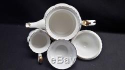 Royal Albert England Bone China Val D'Or Teapot & Creamer & Sugar Bowl Set