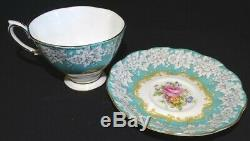 Royal Albert England Enchantment Set of 6 Cups & Saucers Bone China Mint