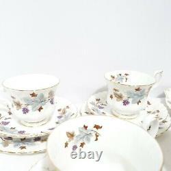 Royal Albert England Lorraine Bone China Trio Tea Set Milk Creamer Serving Plate