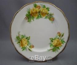 Royal Albert England Yellow Tea Rose Bone China 23 Piece Tea Set Service for 6