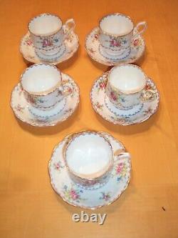 Royal Albert English Bone China Petite Point 20 Item Tea Set Cups Saucer England