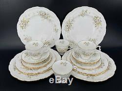 Royal Albert Haworth 5 Pieces Plate Settings X 4 Bone China England 20 Pieces