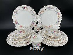 Royal Albert Jubilee Rose 5 Piece Place Setting x 4 Bone China England 20 Pieces