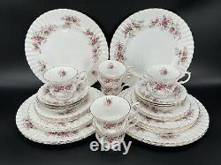 Royal Albert Lavender Rose 5 Piece Place Setting x 6 Bone China England 30 Piece