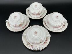 Royal Albert Lavender Rose Creamer Soup Bowl Saucer Set x 4 England Bone China