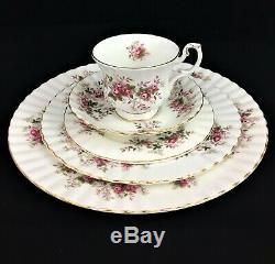Royal Albert Lavender Rose Dinner Service Set for 4 20 pcs Bone China England