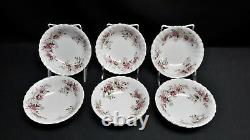 Royal Albert Lavender Rose Set of 12 Fruit Dessert Bowls England Bone China