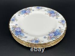 Royal Albert Moonlight Rose 8 Salad Plate Set of 4 England Bone China