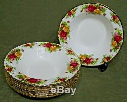 Royal Albert Old Country Roses Bone China 8 Soup Bowls Made in England Set of 8