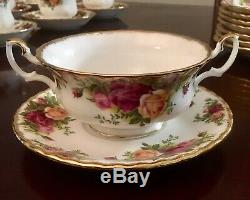 Royal Albert Old Country Roses Bone China England set of 8 soup cups and saucers