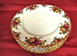 Royal Albert Old Country Roses Bone China Set of 8 Dinner Plates England