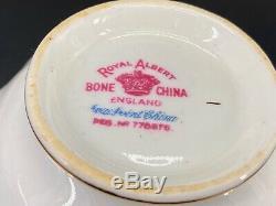 Royal Albert Petit Point 5 Piece Plate Setting x 4 Bone China England 20 Pieces