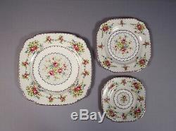 Royal Albert Petit Point Bone China Dinner Set for 8 Salad Bread Plates England