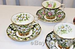 Royal Albert Provincial Flowers Cup & Saucer Set of 4 England Bone China
