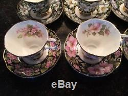 Royal Albert Provincial Flowers Cup & Saucer Set of 5 England Bone China