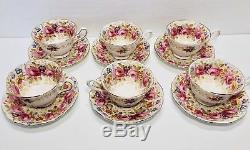 Royal Albert Serena Tea Set For 8 Total 16 Pieces Bone China England