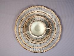 Royal Albert Silver Birch Dinner Set Plate Salad Bread Cup Bone China England