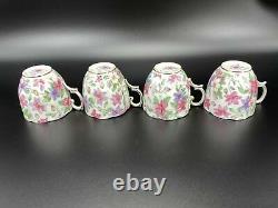 Royal Albert Summer Glory Tea Trio x 4 Tea Set Bone China England 12 Pieces