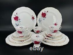 Royal Albert Sweet Romance 5 Piece Place Setting x 4 England Bone China 20 Piece