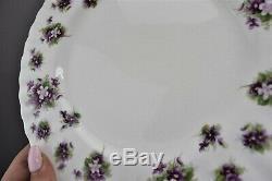 Royal Albert Sweet Violets Salad Plates Bone China England Set of 9