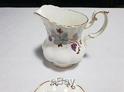 Royal Albert Tea Set Bone China England LORRAINE Eleven (11) Piece ORP $900