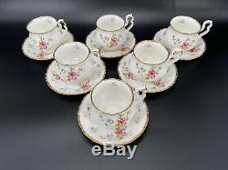Royal Albert Tenderness Tea Cup Saucer Set x 6 Bone China England