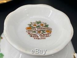 Royal Albert White Dogwood 5 Piece Plate Setting x 4 Bone China England 20 Piece