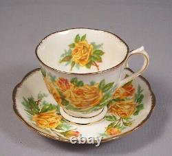 Royal Albert Yellow Tea Rose Bone China Coffee Teapot Set Cup Sugar Bow England