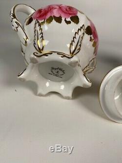 Royal Chelsea Creamer And Sugar Bowl Set Bone China Pink Cabbage Roses