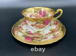 Royal Chelsea Golden Rose Tea Trio Set Bone China England