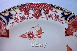 Royal Crown Derby Dessert Plate 2150 IMARI FLOW BLUE China England Set of 6