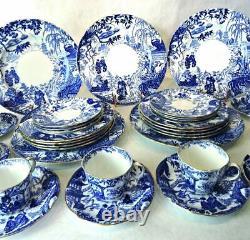 Royal Crown Derby England Bone China 40 Piece Set of Dishes Mikado Pattern