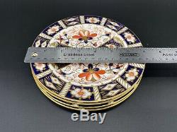 Royal Crown Derby Imari 6 Dessert Plates Set of 4 Bone China England