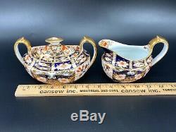 Royal Crown Derby Imari Creamer Large Sugar Bowl with Lid Set Bone China England