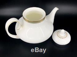 Royal Doulton Clarendon Teapot Creamer Sugar Set Bone China England