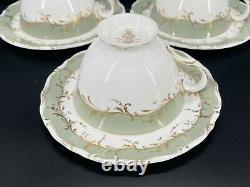 Royal Doulton Fontainebleau Tea Cup Saucer Set x 6 Bone China England