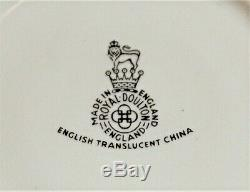 Royal Doulton Translucent Rose Elegans Bone China Tea Set made in England 1960s