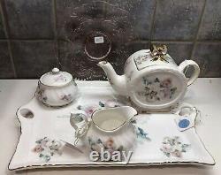 Royal Patrician Tea Set-Teapot-Sugar-Creamer-tray-Plate Fine Bone China England