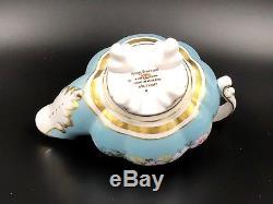 Royal Stafford Garland Blue Creamer Sugar Bowl Lid Set Rare Bone China England