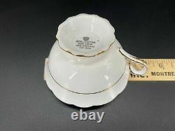 Royal Stafford Pink Heavy Gold Flower Prin Tea Cup Saucer Set Bone China England