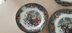 Royal Stafford, Santas Coming to Town China Set for 4 12 pc. Made in England