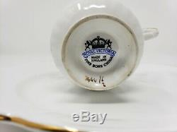 Royal Victoria Vintage Fine Bone China Snack/Sandwich set of 8 made in England