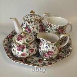 Royal Victorian Fine Bone China 5 Piece Coffee Tea Set Made in England New NOS