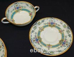 Royal Worcester England Hollywood Set of 8 Cream Soups with Saucers Bone China